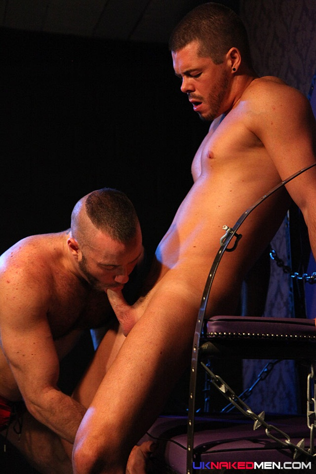 Justin King shows Dominic North how to audition for a gay pole dancing job