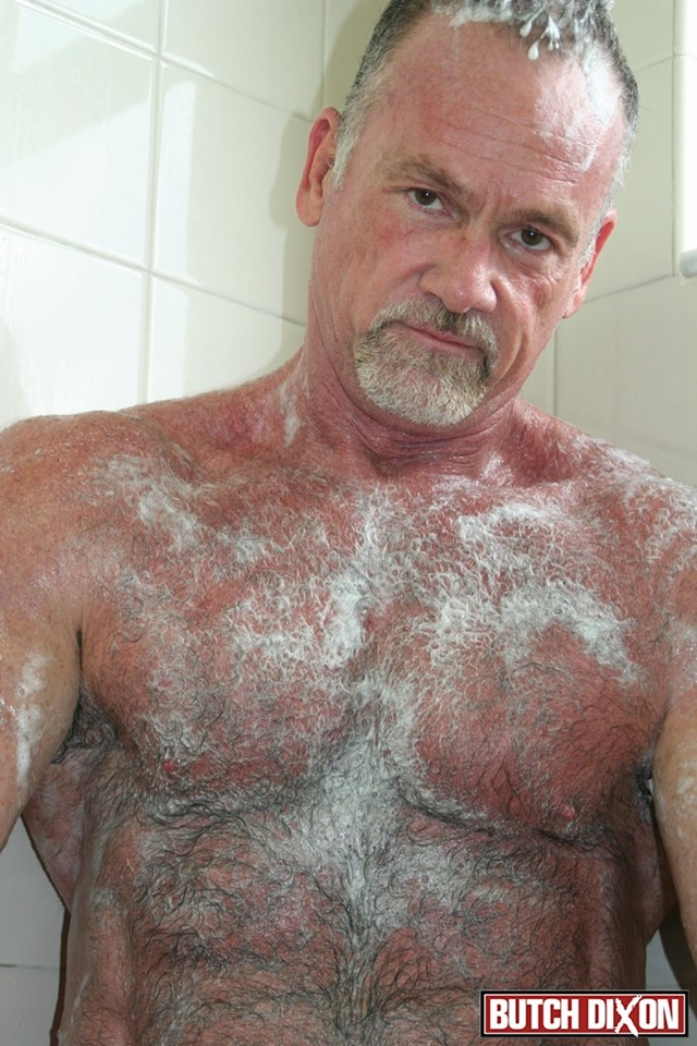 Butch-Dixon-silver-haired-hunk-older-mature-stud-Mickie-Collins-flexes-muscles-rubs-furry-tanned-skin-009-male-tube-red-tube-gallery-photo