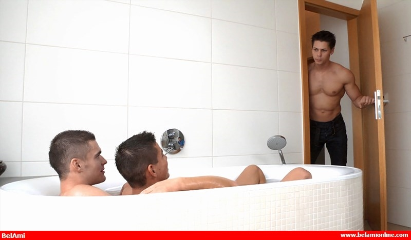 BelamiOnline Adam Archuleta Scott Reeves roommates handsome Ennio Guardi hot bath sexy young naked boys pounding 003 tube video gay porn gallery sexpics photo - Adam Archuleta, Scott Reeves and Ennio Guardi