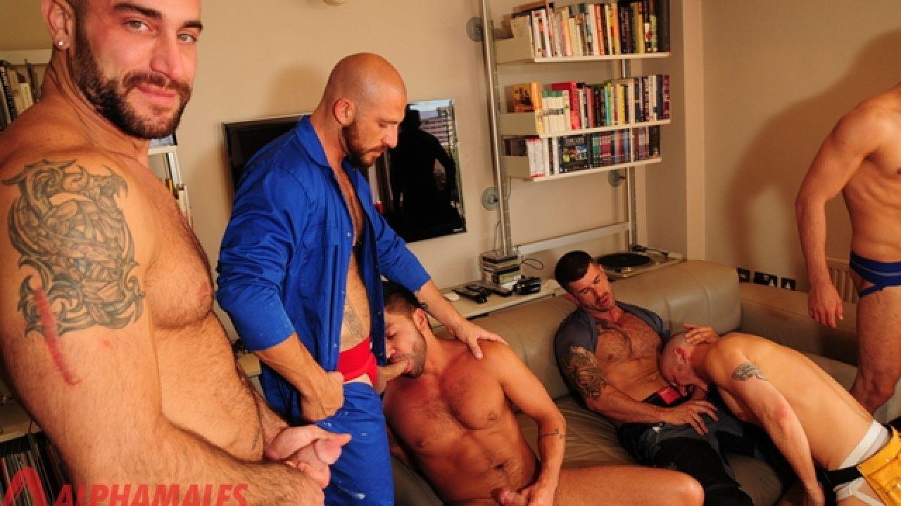Aitor Crash Porno dick sucking ass rimming orgy with adam killian, spencer