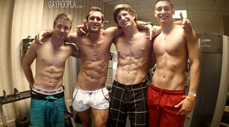 Hunter Gage, Brad Spear, Seth Rose and Thomas Diaz