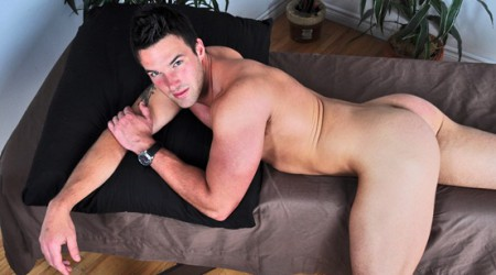 Gorgeous cute hunk Trystan Bull solo jerk off