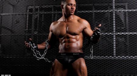 Hunky black bodybuilder Devon Ford at Muscle Hunks