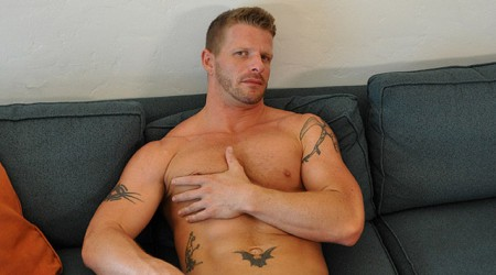 Jeremy Stevens blond cum lover is into hairy guys and multiple partners at Dirty Tony