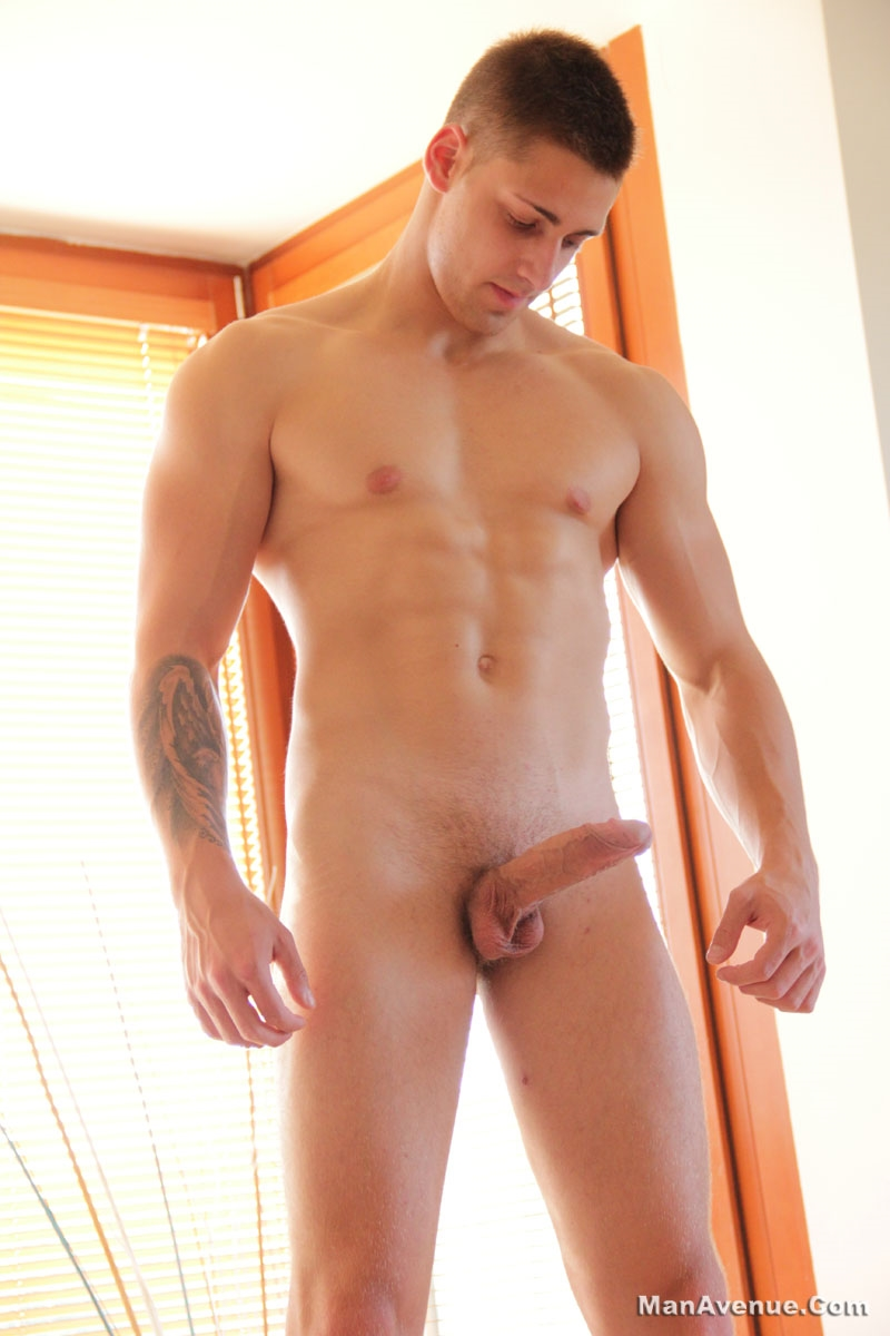 Gay dripping cum from my attached cock 5