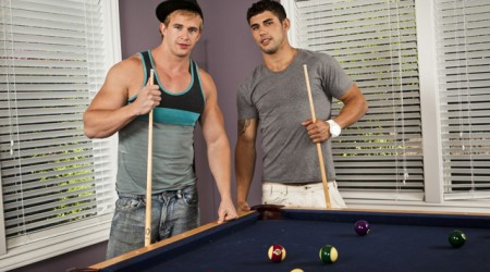 Muscle boy cumshot with Jimmy Clay and Cameron Foster at Next Door Buddies