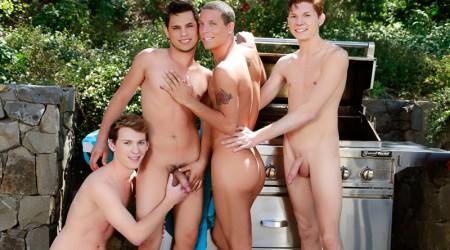 Landon Terry, Nick B, Jake Piper and Kaiden Haskins