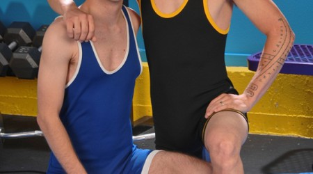 Young twink wrestlers Trevor Knox and fresh faced Kyler Benz