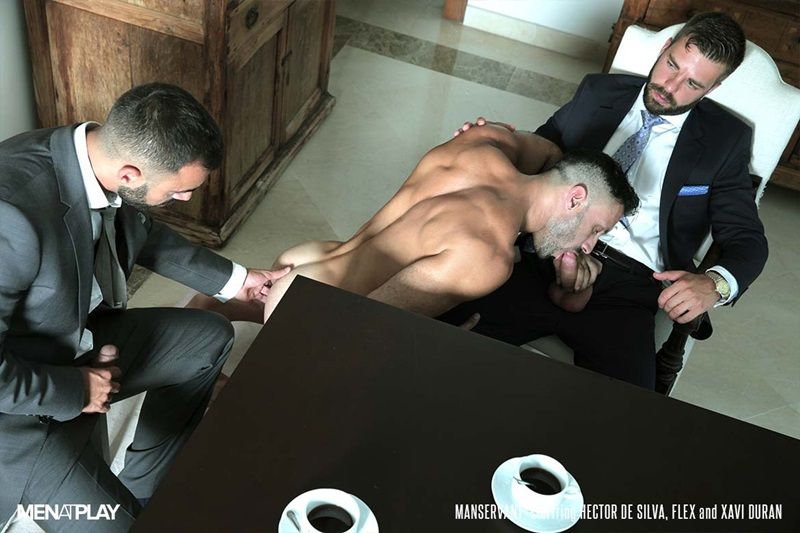MenatPlay-Flex-Xtremmo-Hector-de-Silva-Xavi-Duran-naked-muscle-business-suit-men-fuck-rim-cock-doggy-style-fucking-Tag-Team-Spit-Roast-16-gay-porn-star-sex-video-gallery-photo
