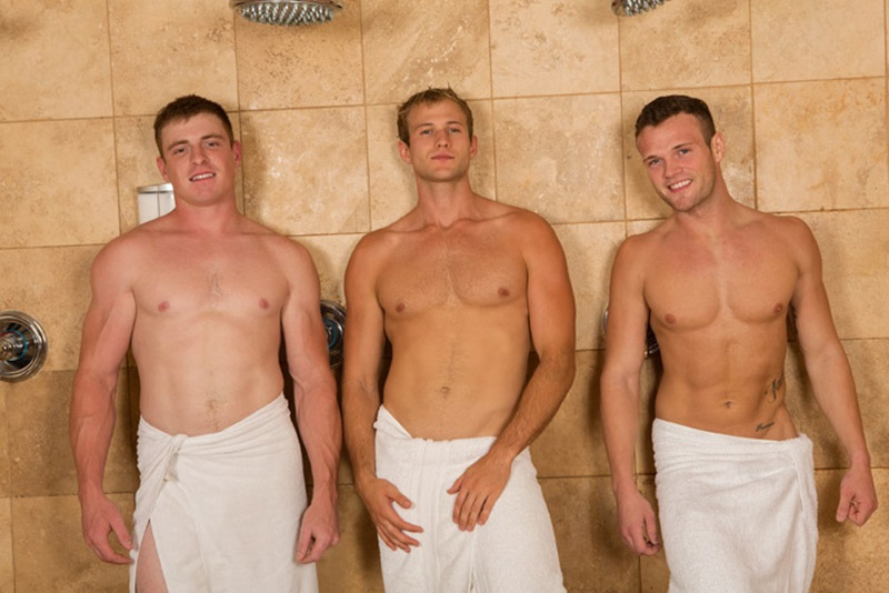 ... see three gorgeous muscle hunks from Sean Cody Sean, Blake and Curtis