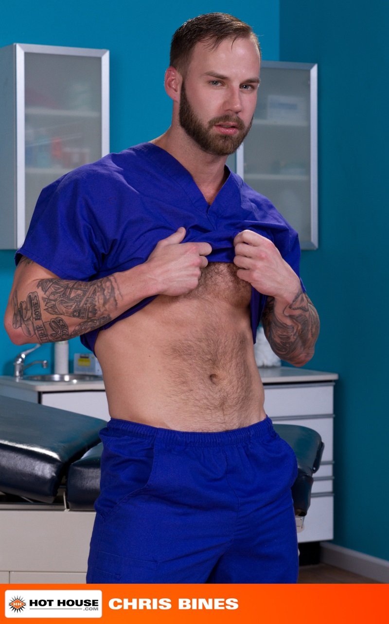 Hothouse-Medical-nurse-doctor-Chris-Bines-handsome-Alex-Mecum-fucking-butt-guy-bottom-massive-thick-cock-monster-hairless-ass-hole-rimming-02-gay-porn-star-sex-video-gallery-photo