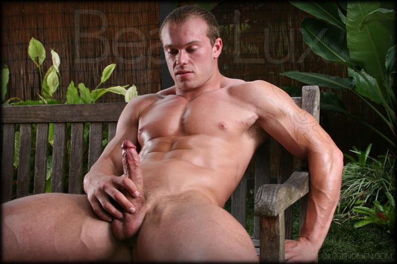 Naked muscled hunk Beau Lux Legend Men's newest bodybuilder