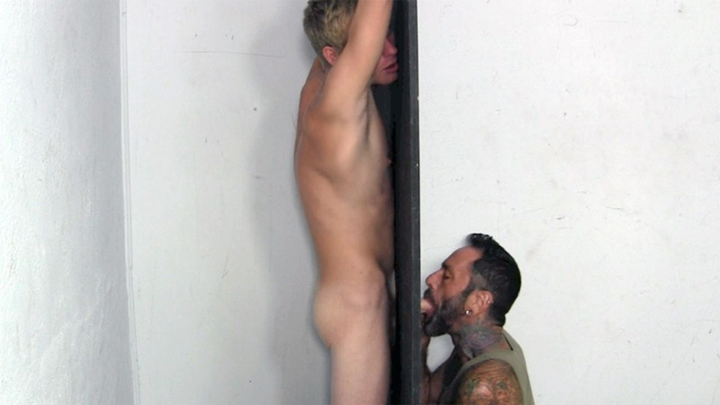 StraightFraternity Blonde surfer Jason big thick hung cock sucked Straight gloryhole blowjob cocksucker cumload 03 gay porn star sex video gallery photo - Young dude Jason gets his best blowjob ever at the Straight Fraternity Glory Hole