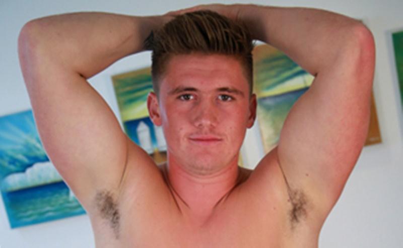 Sneak Peak straight 21 year old hunk Anthony Forde jerks his 9 inch uncut dick
