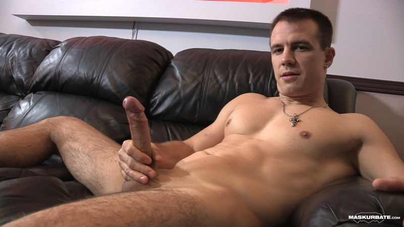 Maskurbate Ricky Jerks Off His Huge Long Dick To A Massive Cum