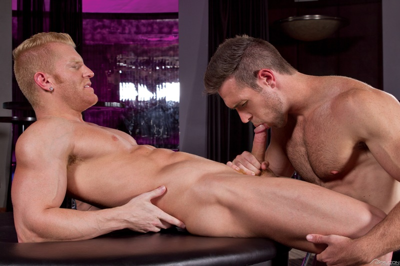 Sexy muscle dude Alex Mecum's huge dick fucks Johnny V's tight muscled asshole
