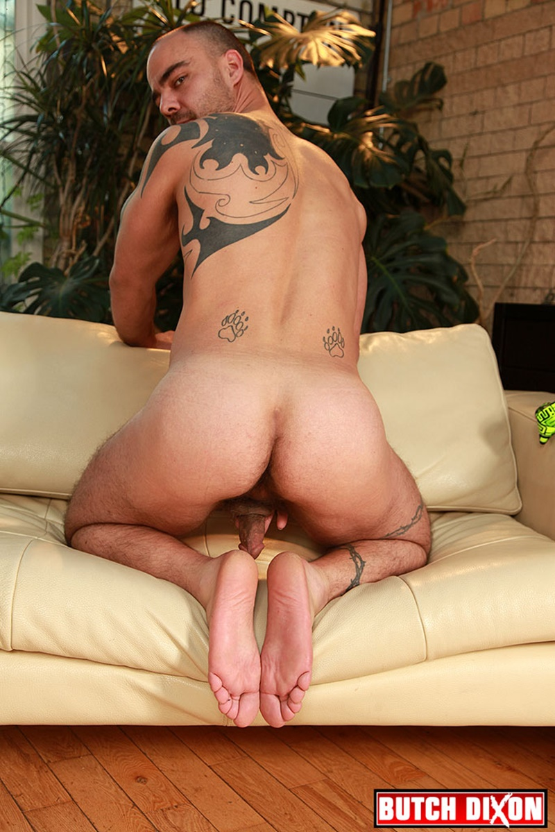 ButchDixon-tattoo-muscle-guy-David-James-ex-straight-soldier-dark-tanned-muscular-hairy-untrimmed-pubes-thick-stiff-cock-jerking-005-gay-porn-sex-gallery-pics-video-photo