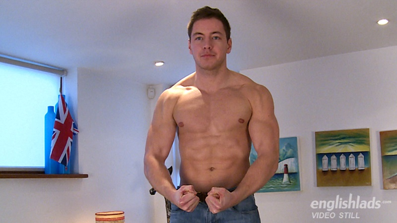 Max Meyer jerks his big thick uncut dick to a huge straight man cumshot