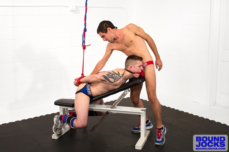 bound jocks  Elijiah Woods big cock fucks Tyler Rush hard and deep