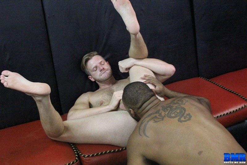 Slut bottom Brian Bonds submits to Ray Diesel's huge 10 inch black dick