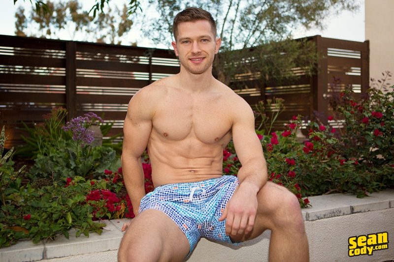 SeanCody sexy young muscle dude ripped six pack abs Sean Cody Deacon gay hottie big thick uncut dick foreskin solo jerk off 003 gay porn sex gallery pics video photo - Sean Cody Deacon is a gay hottie