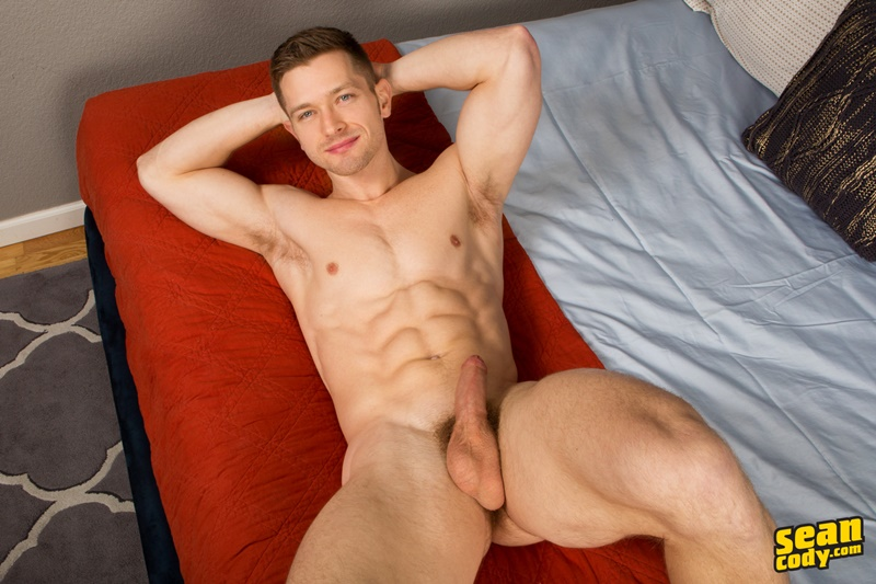 SeanCody sexy young muscle dude ripped six pack abs Sean Cody Deacon gay hottie big thick uncut dick foreskin solo jerk off 005 gay porn sex gallery pics video photo - Sean Cody Deacon is a gay hottie