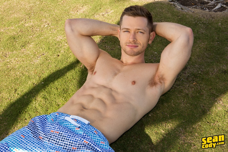 SeanCody sexy young muscle dude ripped six pack abs Sean Cody Deacon gay hottie big thick uncut dick foreskin solo jerk off 015 gay porn sex gallery pics video photo - Sean Cody Deacon is a gay hottie
