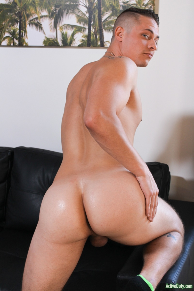 ActiveDuty Sexy young stud Aston Springs jerks big cock huge cum explosion fingering asshole bubble butt ass cheeks spread 012 gay porn sex gallery pics video photo - Sexy young stud Aston Springs jerks his big cock to a huge cum explosion