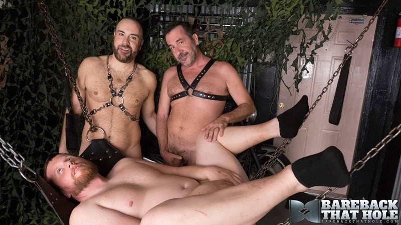 Bareback raw ass fucking orgy with Eric Wolfe, Victor Cody and Mike Schiltz