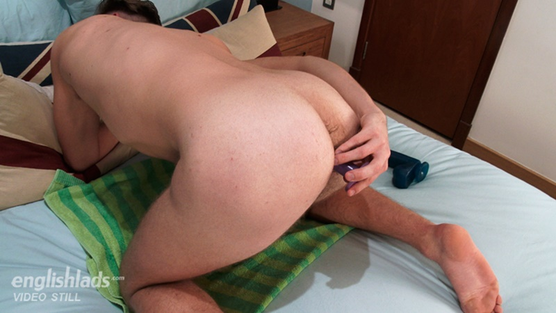 Mature Gay Shoves Dildo In His Asshole