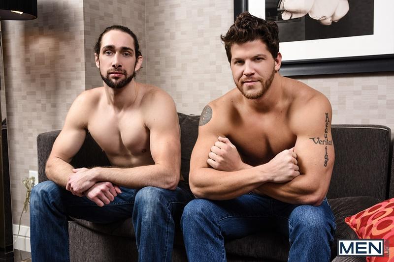 Ashton McKay massages his big dick deep inside Roman Cage's ass
