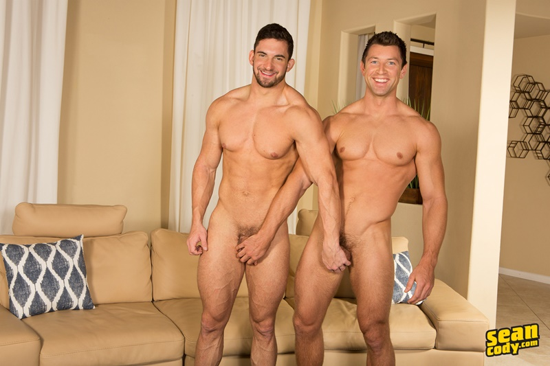 Sean Cody Joey and Shaw flip flop bareback ass fucking