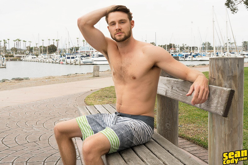 SeanCody Sexy young all American boy Kody solo jerk off masturbating public gay sex hairy chest big thick dick wanking 002 gay porn sex gallery pics video photo - Sexy young all American boy Kody has a secret he loves masturbating in public