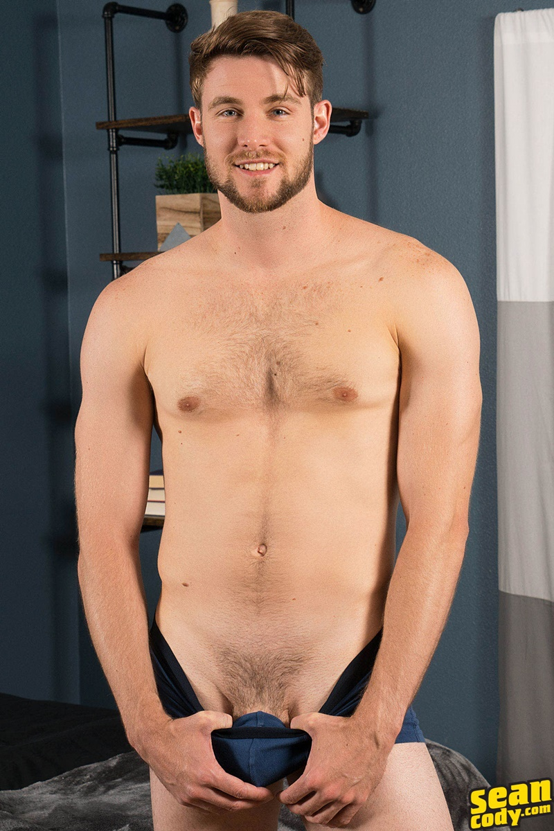 SeanCody Sexy young all American boy Kody solo jerk off masturbating public gay sex hairy chest big thick dick wanking 006 gay porn sex gallery pics video photo - Sexy young all American boy Kody has a secret he loves masturbating in public
