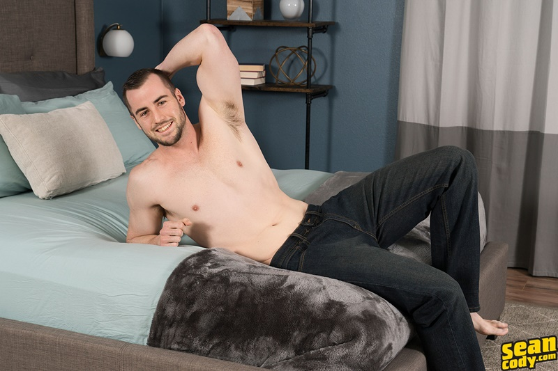 SeanCody sexy young ripped six pack abs muscle boy Tyson strips naked solo jerkoff wanks big American dick bubble butt asshole 003 gay porn sex gallery pics video photo - Tyson strips naked and jerks his big all American dick