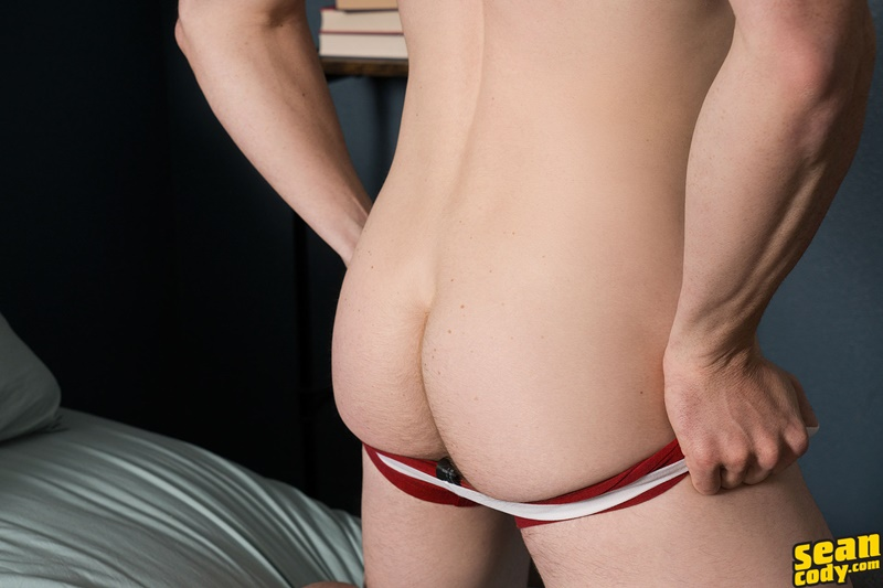 SeanCody sexy young ripped six pack abs muscle boy Tyson strips naked solo jerkoff wanks big American dick bubble butt asshole 004 gay porn sex gallery pics video photo - Tyson strips naked and jerks his big all American dick