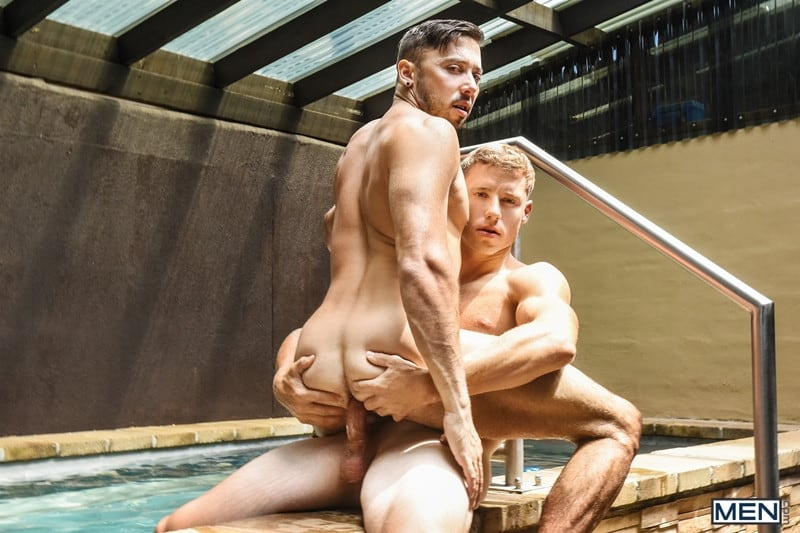 Men for Men Blog Justin-Matthews-and-Shane-Jackson-dildo-ass-play-Men-com-013-gay-porn-pics-gallery Justin Matthews is shocked to find Shane Jackson in the pool taking a huge dildo up his ass Men