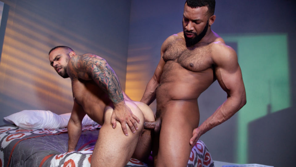 Men for Men Blog 70345_02_01 Jay Landford takes ownership of Lorenzo Flexx's hole with passionate kisses and long driving thrusts of his raw glistening cock Raging Stallion