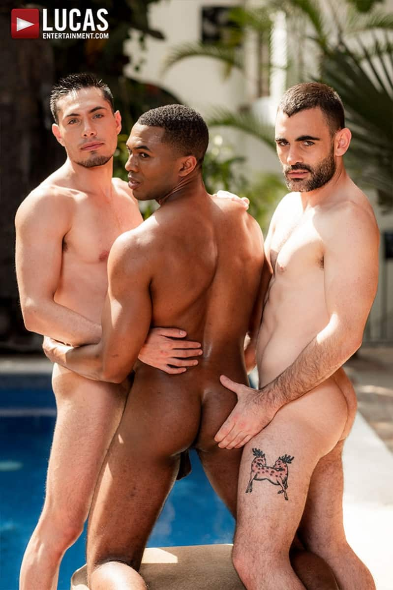 Men for Men Blog Ashton-Labruce-Sean-Xavier-Boy-Friend-Max-Arion-anal-fucked-huge-11-inch-cock-LucasEntertainment-009-gay-porn-pictures-gallery Ashton Labruce sits watching and stroking while BF Max Arion fucks black beauty Sean Xavier hot asshole Lucas Entertainment