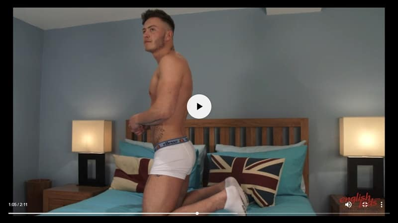 Men for Men Blog Joe-Burleigh-sexy-naked-Personal-Trainer-hot-muscled-body-huge-uncut-cock-EnglishLads-018-gay-porn-pictures-gallery Straight young ripped tattooed Brit dude Joe Burleigh strips and jerks his big uncut foreskined dick English Lads