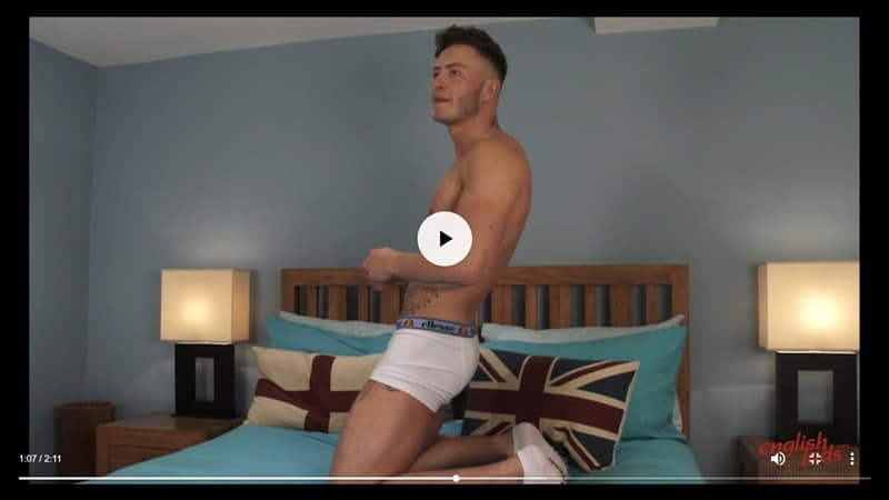 Men for Men Blog Joe-Burleigh-sexy-naked-Personal-Trainer-hot-muscled-body-huge-uncut-cock-EnglishLads-019-gay-porn-pictures-gallery Straight young ripped tattooed Brit dude Joe Burleigh strips and jerks his big uncut foreskined dick English Lads