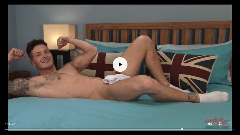 Men for Men Blog Joe-Burleigh-sexy-naked-Personal-Trainer-hot-muscled-body-huge-uncut-cock-EnglishLads-030-gay-porn-pictures-gallery Straight young ripped tattooed Brit dude Joe Burleigh strips and jerks his big uncut foreskined dick English Lads