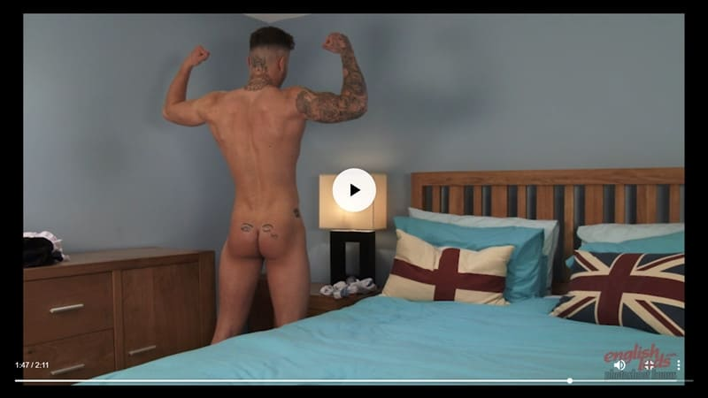 Men for Men Blog Joe-Burleigh-sexy-naked-Personal-Trainer-hot-muscled-body-huge-uncut-cock-EnglishLads-031-gay-porn-pictures-gallery Straight young ripped tattooed Brit dude Joe Burleigh strips and jerks his big uncut foreskined dick English Lads