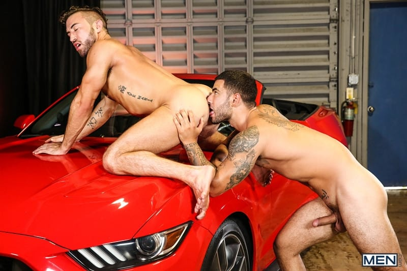 Men for Men Blog Vadim-Black-Grant-Ryan-strip-nude-sexy-dudes-sucking-huge-cocks-off-Men-009-gay-porn-pictures-gallery Vadim Black and Grant Ryan strip out of their leather driving gear sucking each other's huge cocks off Men