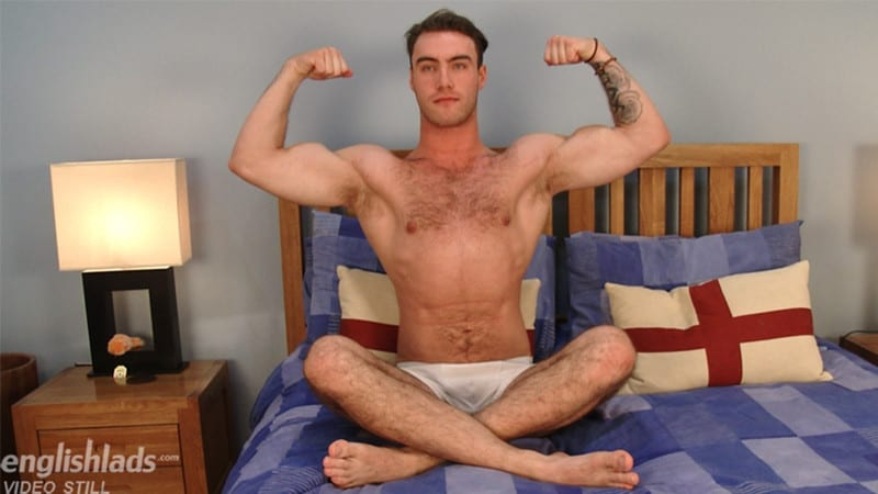 Men for Men Blog Blake-Hurd-hairy-chest-muscle-naked-hunk-big-uncut-cock-foreskin-EnglishLads-008-gay-porn-pictures-gallery Hairy chested young British stud Blake Hurd strips nude and wanks his huge uncut cock English Lads