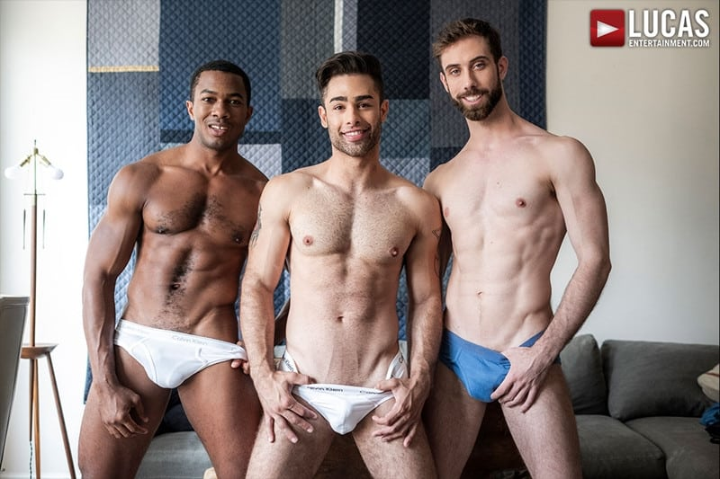 Men for Men Blog JASON-COX-LUCAS-LEON-SEAN-XAVIER-MONSTER-BLACK-DICK-big-muscle-threesome-LucasEntertainment-001-gay-porn-pictures-gallery Hot muscle dudes Jason Cox and Lucas Leon double fucked by Sean Xavier Lucas Entertainment
