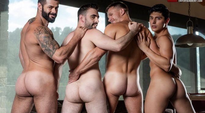 Hardcore gay fucking orgy Andrey Vic, Ken Summers, Max Arion and Victor DAngelo