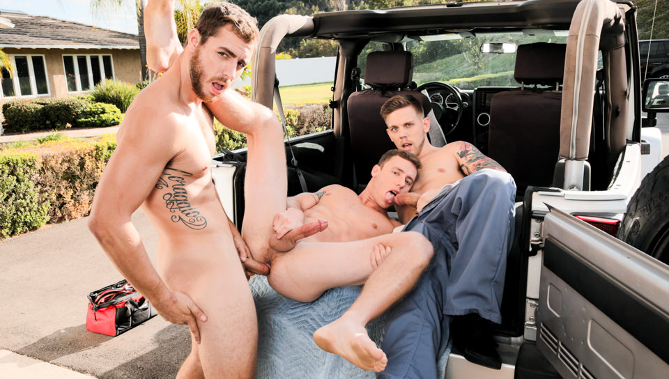 Men for Men Blog 74578_01_01 Hardcore ass fucking orgy with Carter Woods, Justin Matthews and Steve Rickz Next Door Studios Next Door World