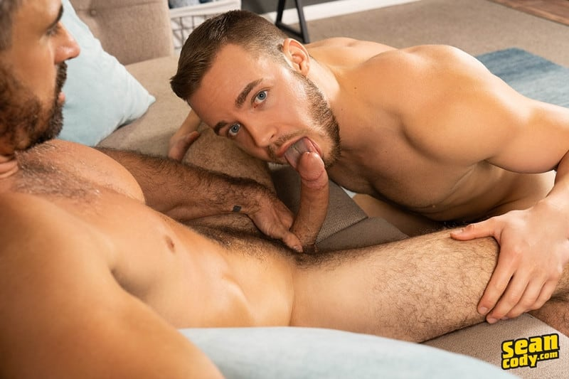 Men for Men Blog Gay-Porn-Pics-001-Stud-Daniel-muscled-Cam-sweaty-bareback-ass-fucking-SeanCody Studly Daniel leads sculpted Cam through a sweaty hands on yoga session before bareback ass fucking Sean Cody