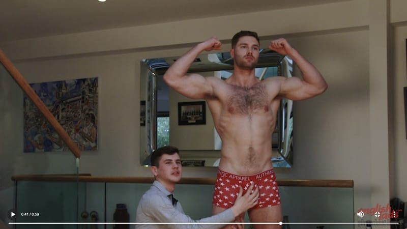 Men for Men Blog Straight-hairy-chested-hunk-Tom-Lawson-wanks-Dominic-Moore-huge-uncut-cock-cum-EnglishLads-014-gay-porn-pics Straight hairy chested hunk Tom Lawson wanks Dominic Moore's huge cock then spurts his own cum fountain English Lads